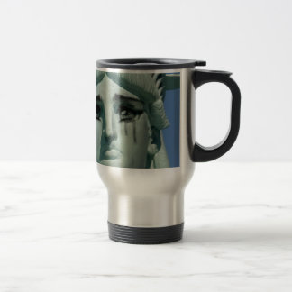 Crying Statue of Liberty Travel Mug