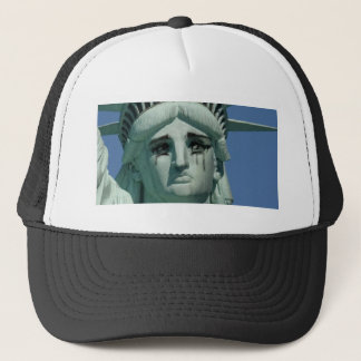 Crying Statue of Liberty Trucker Hat