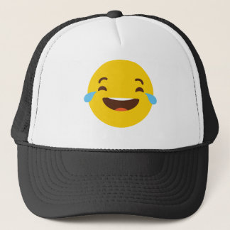 Crying with laugher emoji trucker hat