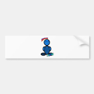 Crying (with logos) bumper sticker