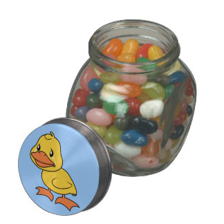 Crying Yellow Duckling Lame Duck Day Candy Jar Tin