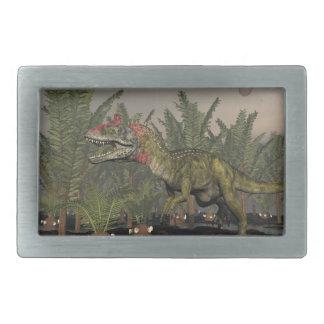 Cryolophosaurus dinosaur - 3D render Belt Buckle