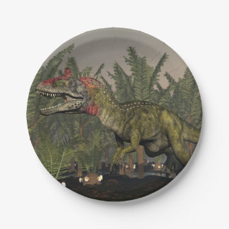 Cryolophosaurus dinosaur - 3D render Paper Plate