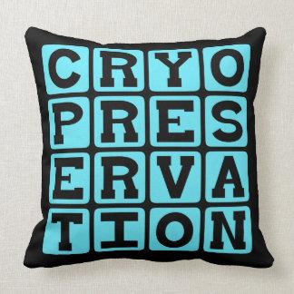 Cryopreservation Freezing Humans Throw Pillows