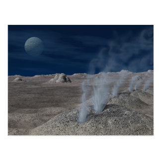 Cryovolcanism on Pluto Postcard