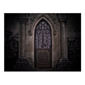 crypt in the dark postcard