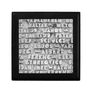 Cryptic Stone Font Keepsake Box