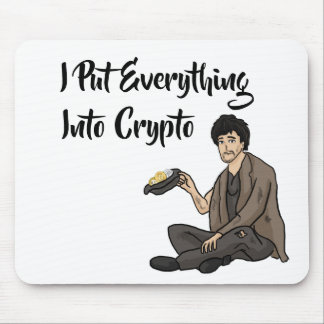 Crypto Currency Cautionary Tale Mouse Pad