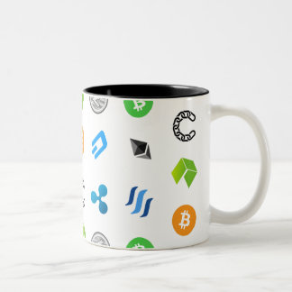 Cryptocurrency Themed Two-Tone Mug