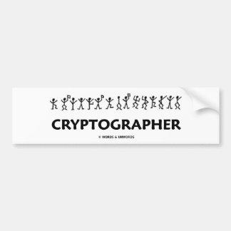 Cryptographer (Dancing Men Stick Figures) Bumper Sticker