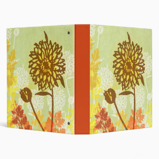 Crysanthemum Graphic Vinyl Binders