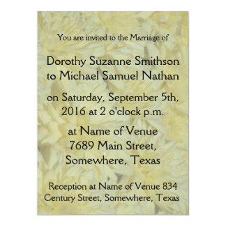 "Crysanthymum Flowers Floral Garden Wedding 6.5"" X 8.75"" Invitation Card"