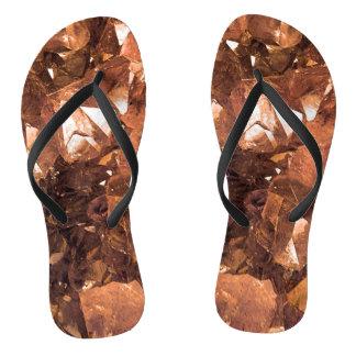 Crystal Amber Flip Flops