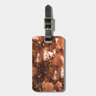 Crystal Amber Luggage Tag