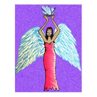 Crystal Angel Postcard / Altar Art