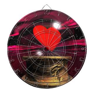 Crystal ball for love - 3D render Dart Board