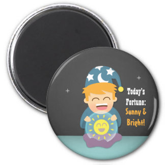 Crystal Ball Fortune Teller Think Positive Magnet
