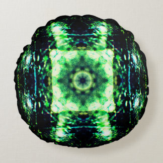 Crystal Ball Mandala Round Pillow