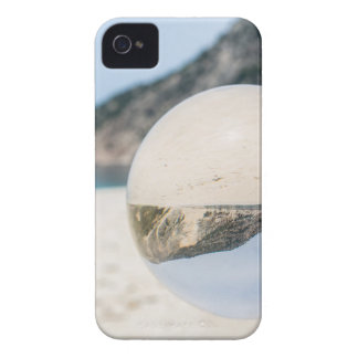 Crystal ball on sandy greek beach Case-Mate iPhone 4 cases