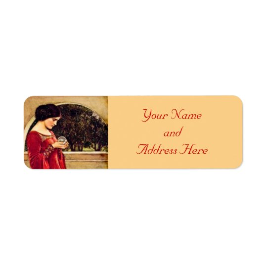 Crystal Ball Pre-Raphaelite Return Address Labels