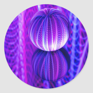 crystal ball reflect classic round sticker