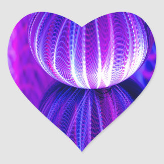 crystal ball reflect heart sticker