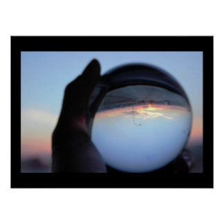 Crystal Ball Sunset Photo Poster