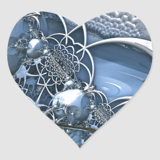 Crystal Blue Allure Heart Sticker