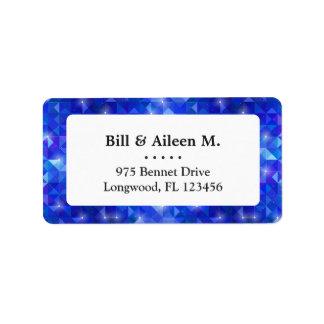 Crystal Blue polygonal constellation Label
