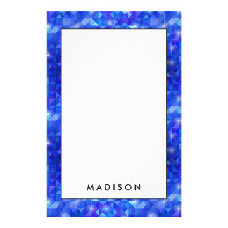 Crystal Blue polygonal constellation Stationery