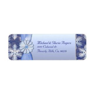 Crystal Blue Snowflake Celebration