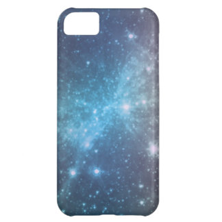 Crystal Blue Space Art iPhone 5C Cases