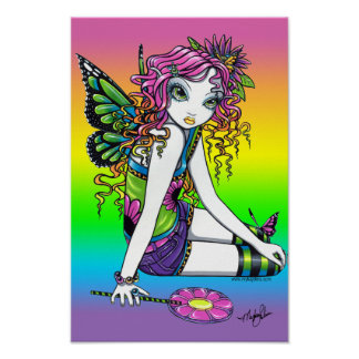 """Crystal"" Candy Rainbow Butterfly Fairy Poster"