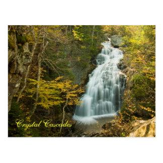 Crystal Cascade, NH    Postcard