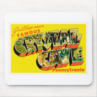 Crystal Cave Pennsylvania PA Old Travel Souvenir Mouse Pad