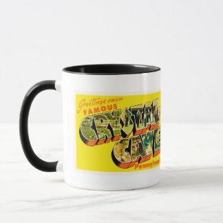 Crystal Cave Pennsylvania PA Old Travel Souvenir Mug