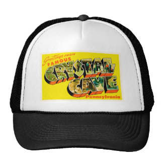 Crystal Cave Pennsylvania PA Old Travel Souvenir Trucker Hat