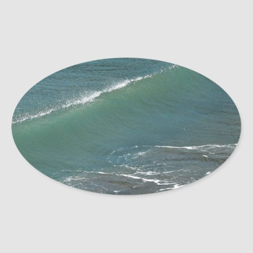 Crystal Clear Wave Movement Oval Stickers