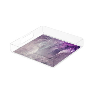 Crystal Core Abstract Acrylic Tray