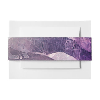 Crystal Core Abstract Invitation Belly Band