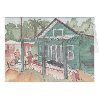 """Crystal Cove, CA"" Watercolor Sketch Greeting Card"