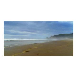 Crystal Cove Digital Art Beach 8 x 4 card Photo Card Template