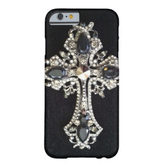 CRYSTAL CROSS BLACK VELVET BARELY THERE iPhone 6 CASE