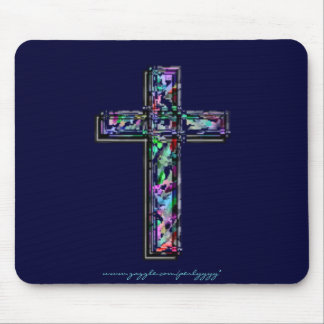 Crystal Cross Mouse Pad