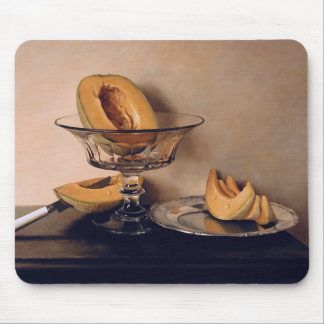 Crystal Dish with Melons by Mauro David Mouse Pad
