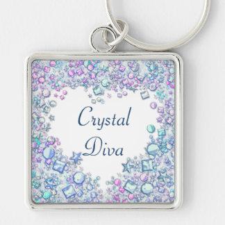 Crystal Diva Keychain