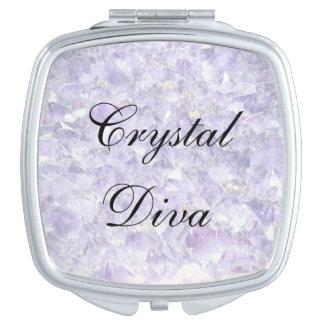 Crystal Diva Travel Mirror