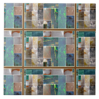 Crystal Embossed Squares pattern Artistic Graphic Tile