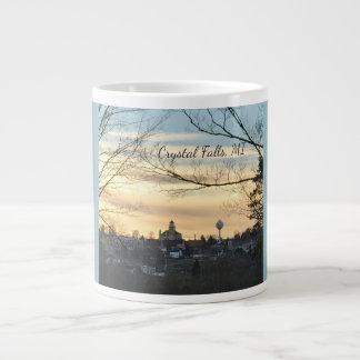 Crystal Falls, MI Skyline Jumbo Mug