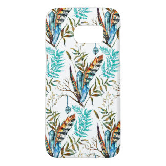 Crystal Feathers And Ferns Samsung Galaxy S7 Case